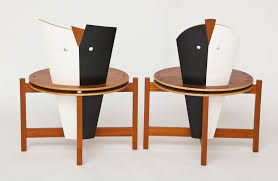 modern furniture post modern wood furniture. Robert Evanson Post Modern 1980 Chairs Tables Pair Modernist Memphis Of Or Furniture Wood