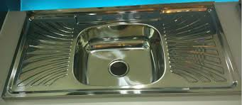 qatar commercial kitchen equipment china wy10050c stainless steel sink with drainboard single bowl