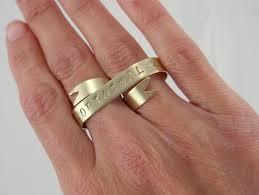 Custom Two Finger Tattoo Banner Ring