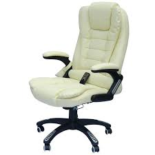 cream desk chair faux leather high back executive heated massage office chair cream white cream office chairs no arms