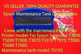 <b>Epson T6193</b> Maintenance Tank Resetter T3000 T5000 T7000 ...