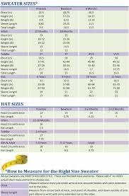 Preemie Size Chart 11 Cogent Crochet Size Chart For Babies