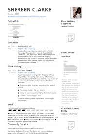 Student Worker Resume samples