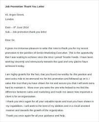 Thank You Letter For Promotion Extraordinary Letters Of Appreciation
