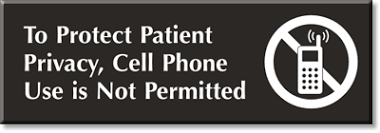 No Cell Phone Signs For Hospitals Medical Centers