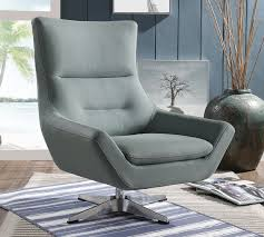 swivel accent chair. Thurmont Swivel Accent Chair Grey Leather C