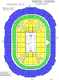Seat Map United Center View From Seats United Center
