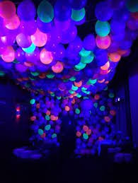 lighting for parties ideas. party decoration idea neon ballon ceiling with black lights lighting for parties ideas r