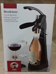 new brookstone countertop wine opener