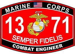 Amazon Com Magnet Combat Engineer Marine Corps Mos 1371