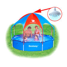 <b>Бассейн BESTWAY Splash</b>-in-<b>Shade Play</b> Pool, каркасный, тент ...