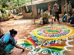 Rangoli Designs For School Competition Rangoli Competition To Saveaarey Draws Out Mumbais Nature