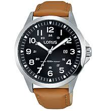 leather men s watches john lewis buy lorus rh933gx9 men s date leather strap watch camel black online at johnlewis
