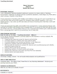 Teaching Assistant Cv Example Teaching Assistant Cv Example Icover Org Uk