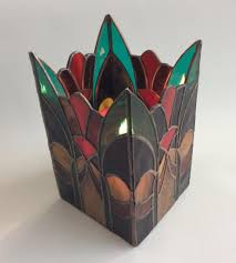 candle holder stained glass 0219m abstract candle shield 5