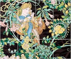 mucha ceramic decals glass tiles ceramic tiles glass murals mucha murals mosaic supplies glass tiles art nouveau ceramic decals tile