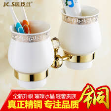 Buy All copper chrome rotating cup holder bathroom towel bar ...