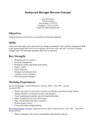 16 Sample Resume Restaurant Manager Job And Resume Template