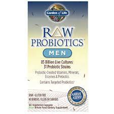 garden of life raw probiotics for men 90 capsules