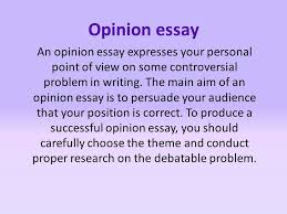opinion essay an opinion essay expresses your personal point of  1 opinion