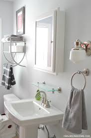 cozy design over the sink bathroom shelf updates organization printable balancing home with drawers expandable glass