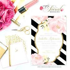 Wedding Invitation Blush Black And Invitations We Love White