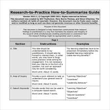 Word Research Paper Template Article Summary Template 8 Samples Examples Formats