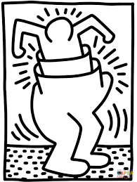 Small Picture Pop Shop Figure by Keith Haring coloring page Free Printable