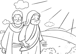 The Lord Speaks To Moses Coloring Page Free Printable Coloring Pages