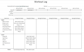 workout excel templates excel workout template fitnessstar club