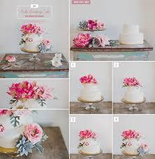 diy wedding cake. DIY Wedding Using Flowers on Wedding Cakes Afloralcom