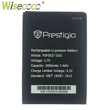 wisecoco psp5506 duo battery for prestigio grace q5 phone replacement tracking code