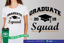 Free jersey number vector download in ai, svg, eps and cdr. Graduate Squad Graphic By Powervector Creative Fabrica