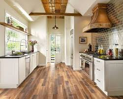 stylish wood floor in kitchen on intended hardwood for flooring designs 6