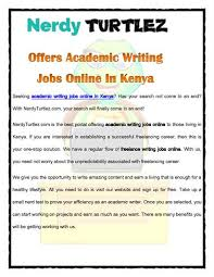 nerdyturtlez com offers academic writing jobs online in  com offers academic writing jobs online in authorstream