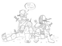 Small Picture Deathstroke Vs Deadpool Coloring Pages Many Interesting Cliparts