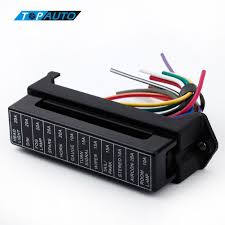 online get cheap car fuse box wiring aliexpress com alibaba group kkmoon 12 way dc 12v volt fuse box 24v 32v circuit car trailer auto blade fuse box block holder atc ato 2 input 12 ouput wire