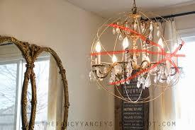 diy crystal orb chandelier knockoff
