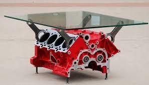 ferrari engine coffee table