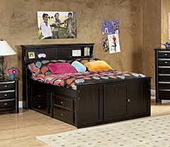 Amazon.com: Chelsea Home Full Bed with Bookcase Headboard and ...