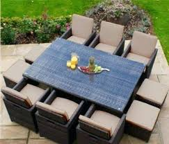 picture 2 of wicker cushion set chair sets