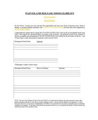 Liability Waiver Form Template Free 50 Free Release Of Liability Forms Liability Waiver