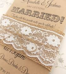 Burlap And Lace Wedding Invitations Rustic Circus Wedding Invitation Burlap And Lace On Kraft Card With