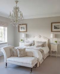 bedroom colors with white furniture. a classic chaise longue in guest bedroom. #interiors #wtinteriors bedroom colors with white furniture