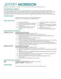 Medical Assistant Resumes Examples Interesting Sample Resume Medical Assist Medical Assistant Resume Example On