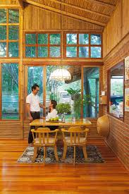 Modern Bamboo House Interior Design A Bamboo House With Modern Appeal Sits Encompassed By Its