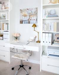 white home office design big white. When Kim Calabrigo Moved From A Large Family Home To Condo, She Quickly Learned That Bigger Isn\u0027t Always Better. White Office Design Big