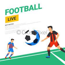 football web banner live stream match
