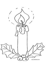 Small Picture Lighted candle and holly coloring pages Hellokidscom