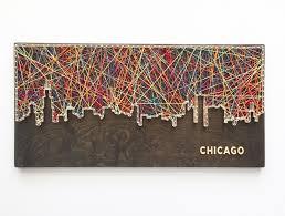 String Art Chicago Skyline String Art Chicago Art Illinois Art